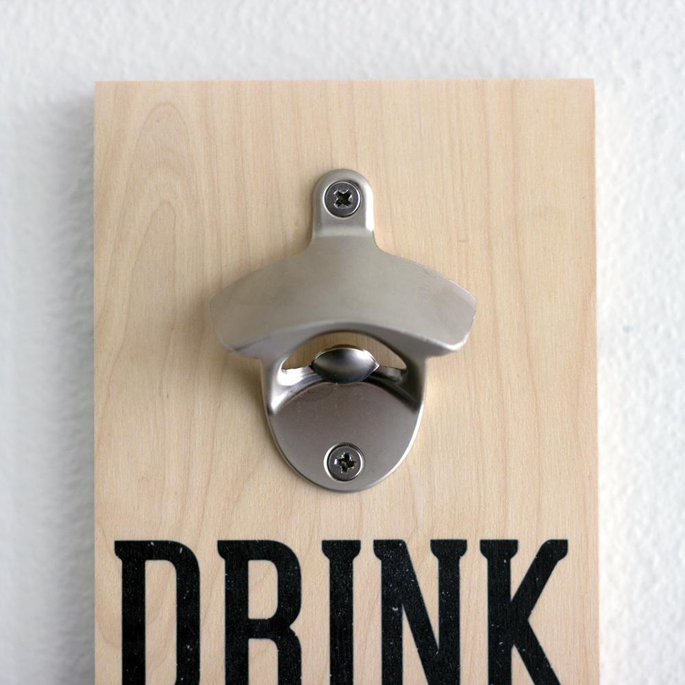 Custom Photo Wood Print Wall Mounted Bottle Opener