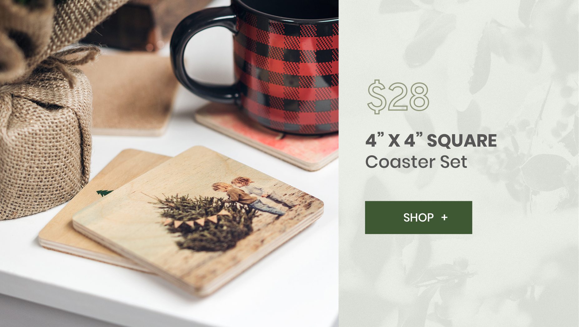 WoodSnap 12 Deals of Christmas Coasters