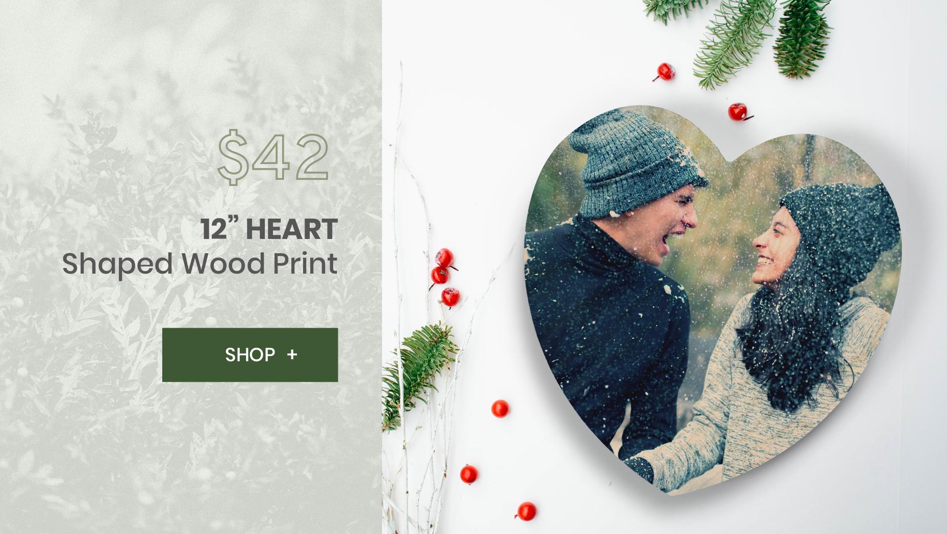 WoodSnap 12 Heart Print