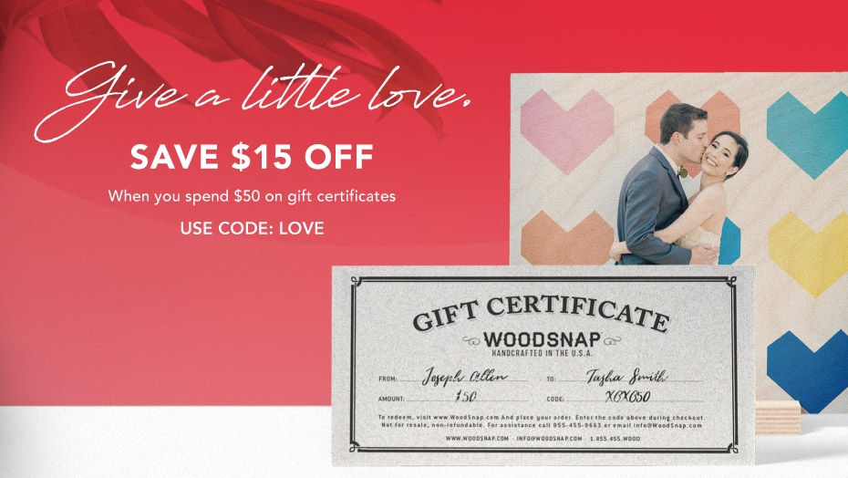 WoodSnap - Gift Certificate Sale