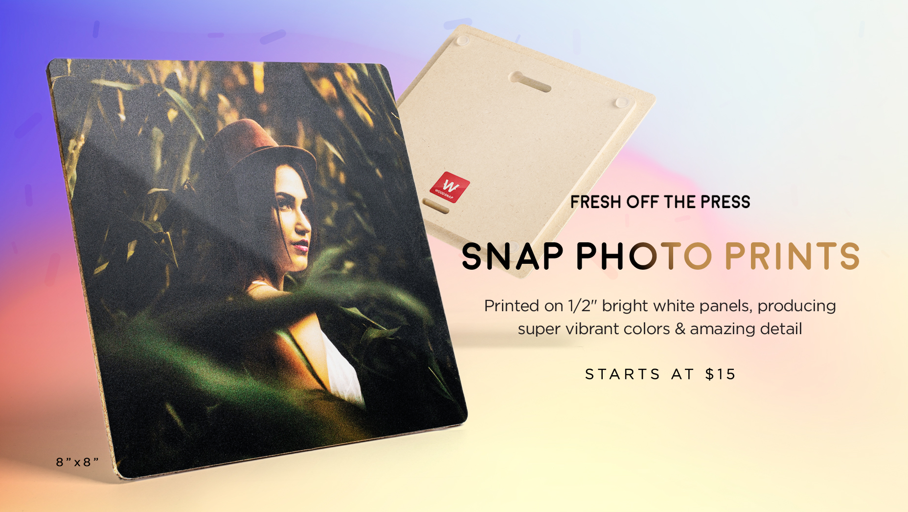 WoodSnap Snap Photo Prints